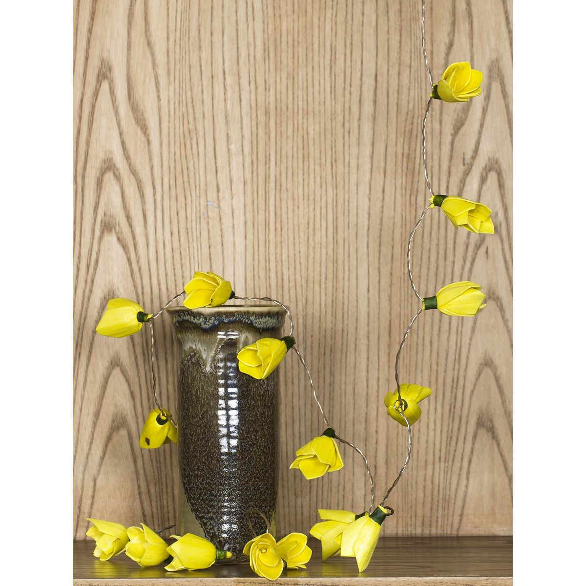 Yellow Flower Ornamented LED Fairy Lights