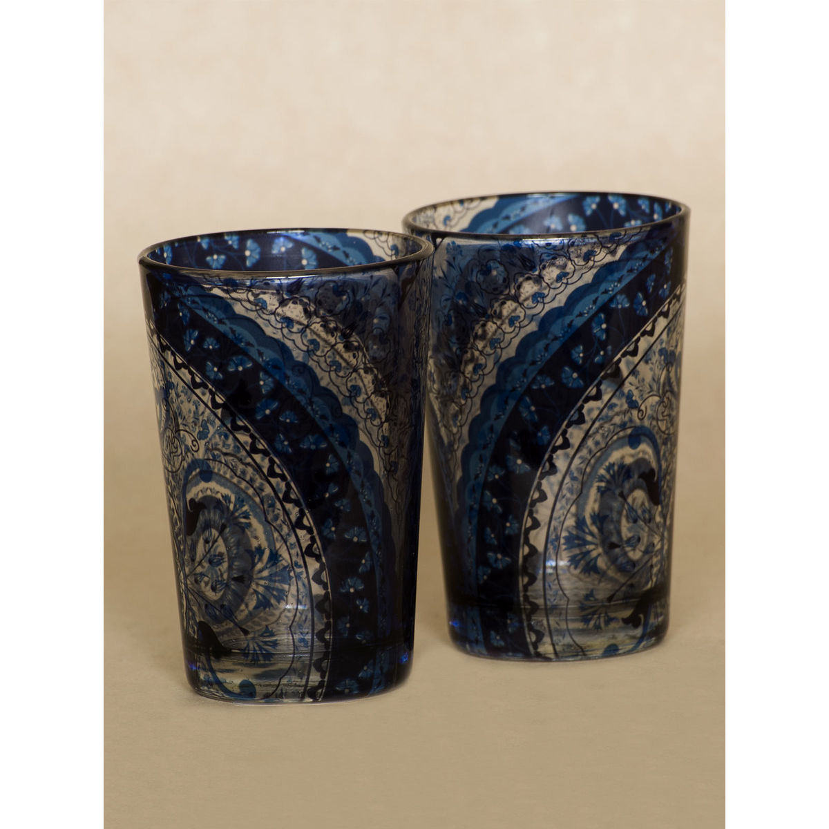 Blue Kaleidoscope shot glass