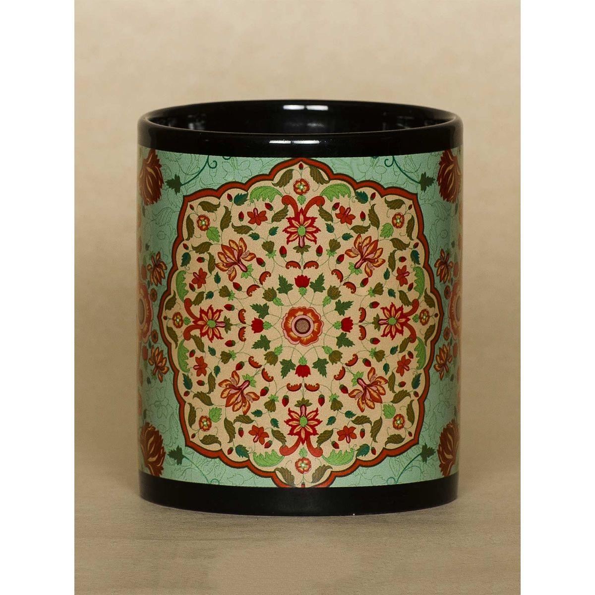 Green Kaleidoscope mug