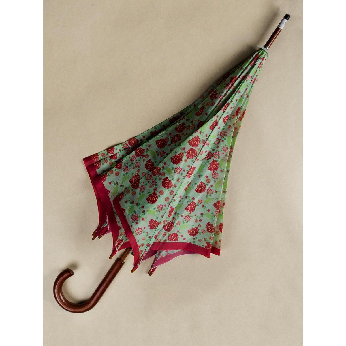 Green Floral umbrella