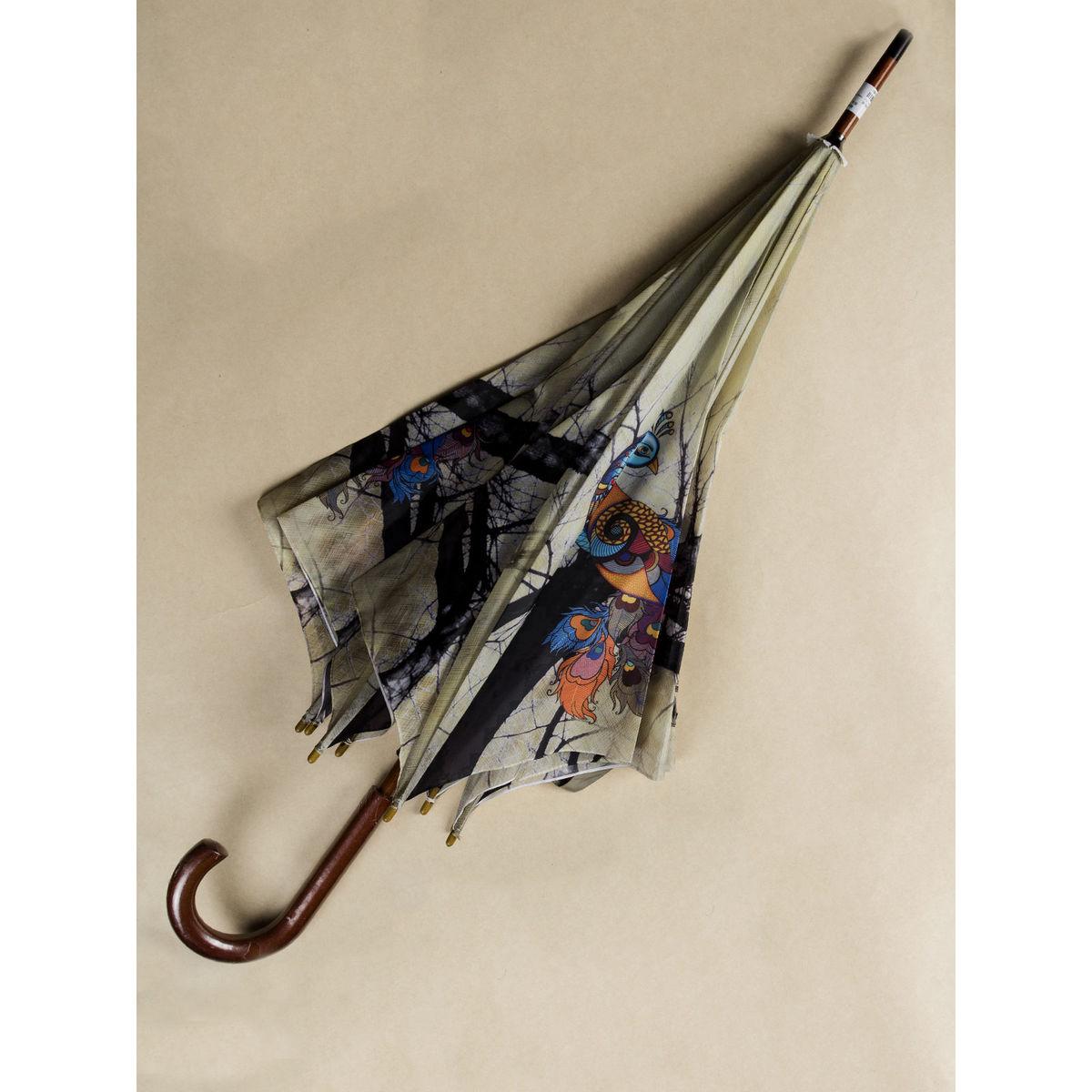 Teal Peacock umbrella