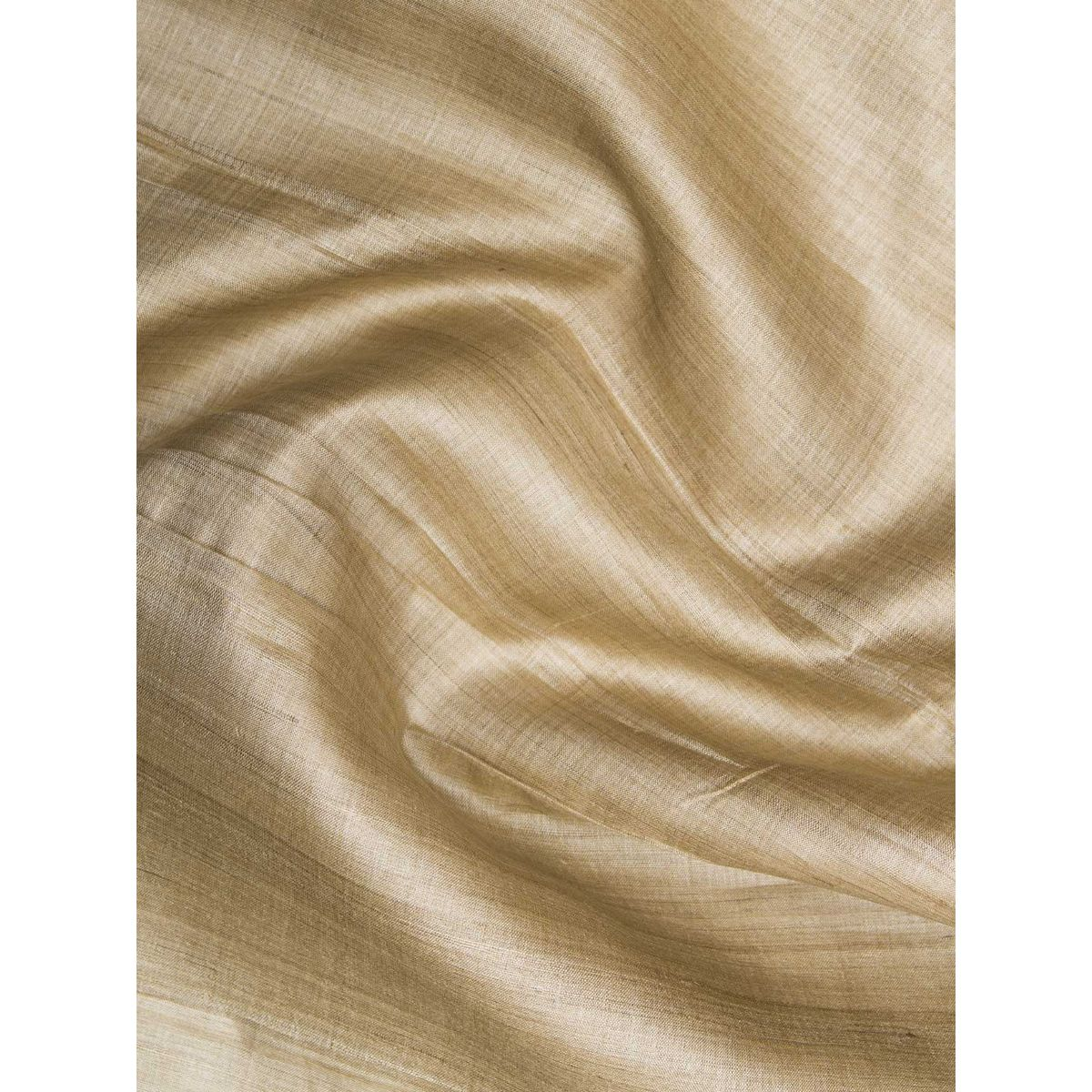 Buy Online Light Brown Color Tussar Silk Fabric