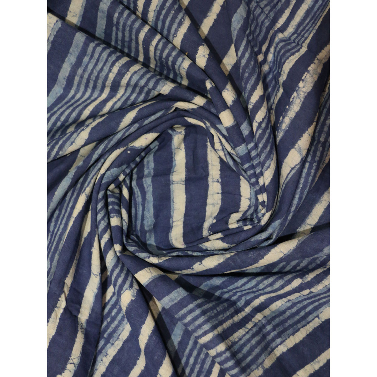 Buy indigo color hand block printed cotton fabric online for Printed cotton fabric