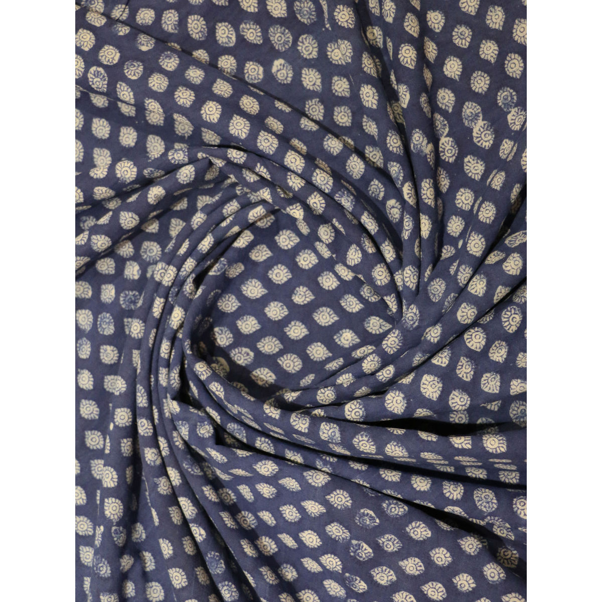 Buy indigo color block printed cotton fabric online for Printed cotton fabric