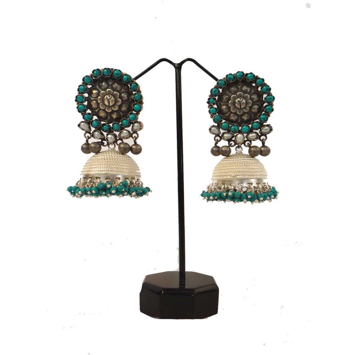 b4f9aa1d1 Buy Indian August pure silver jhumka earrings Online - eIndianAugust.com