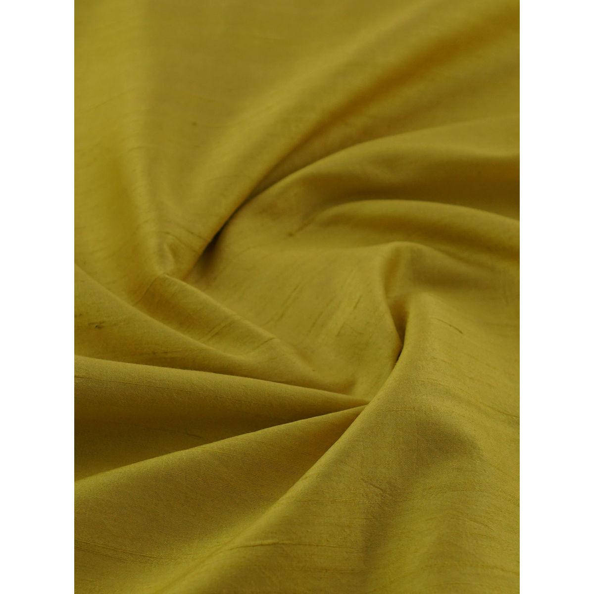 671d539f36be6 Yellow pure raw silk fabric
