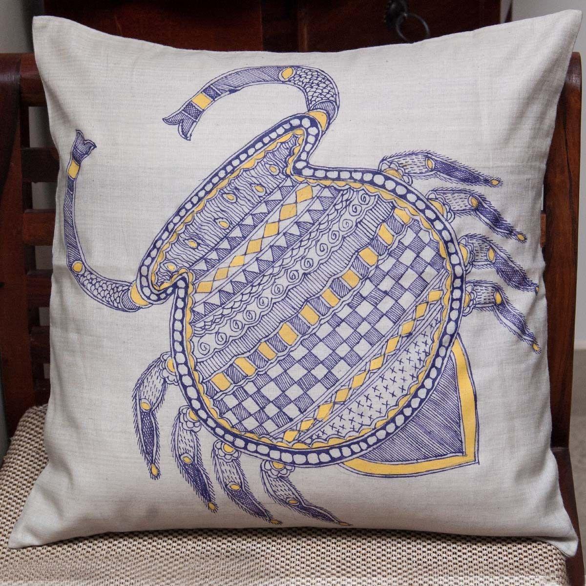 Cancer Zodiac Sign Cushion Cover - 16 X 16 Inch