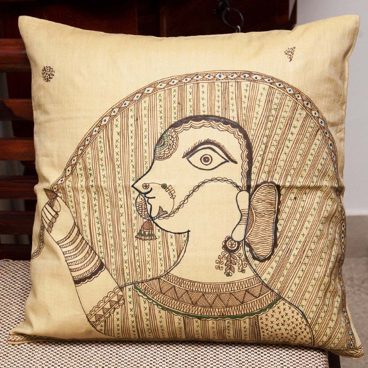 Virgo Zodiac Sign Cushion Cover - 16 X 16 Inch