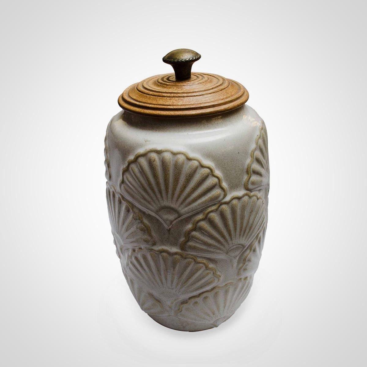 Off White Ceramic Canister