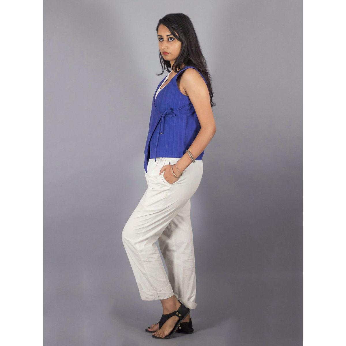 Cotton Breeze Blue Angarkha