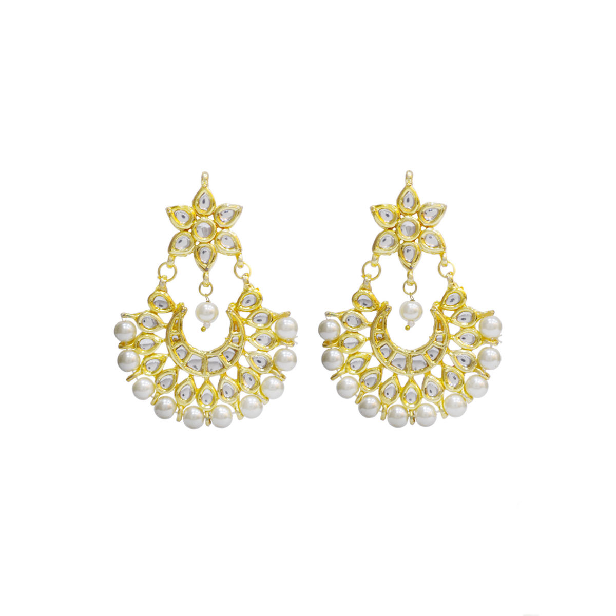 Small Kundan Chandbali Earrings