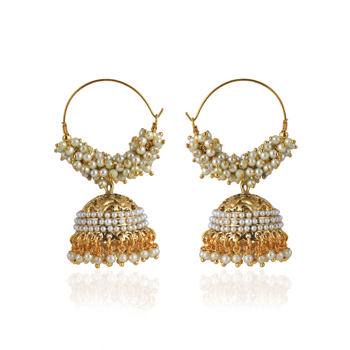 Pearl Bali Jhumka earrings