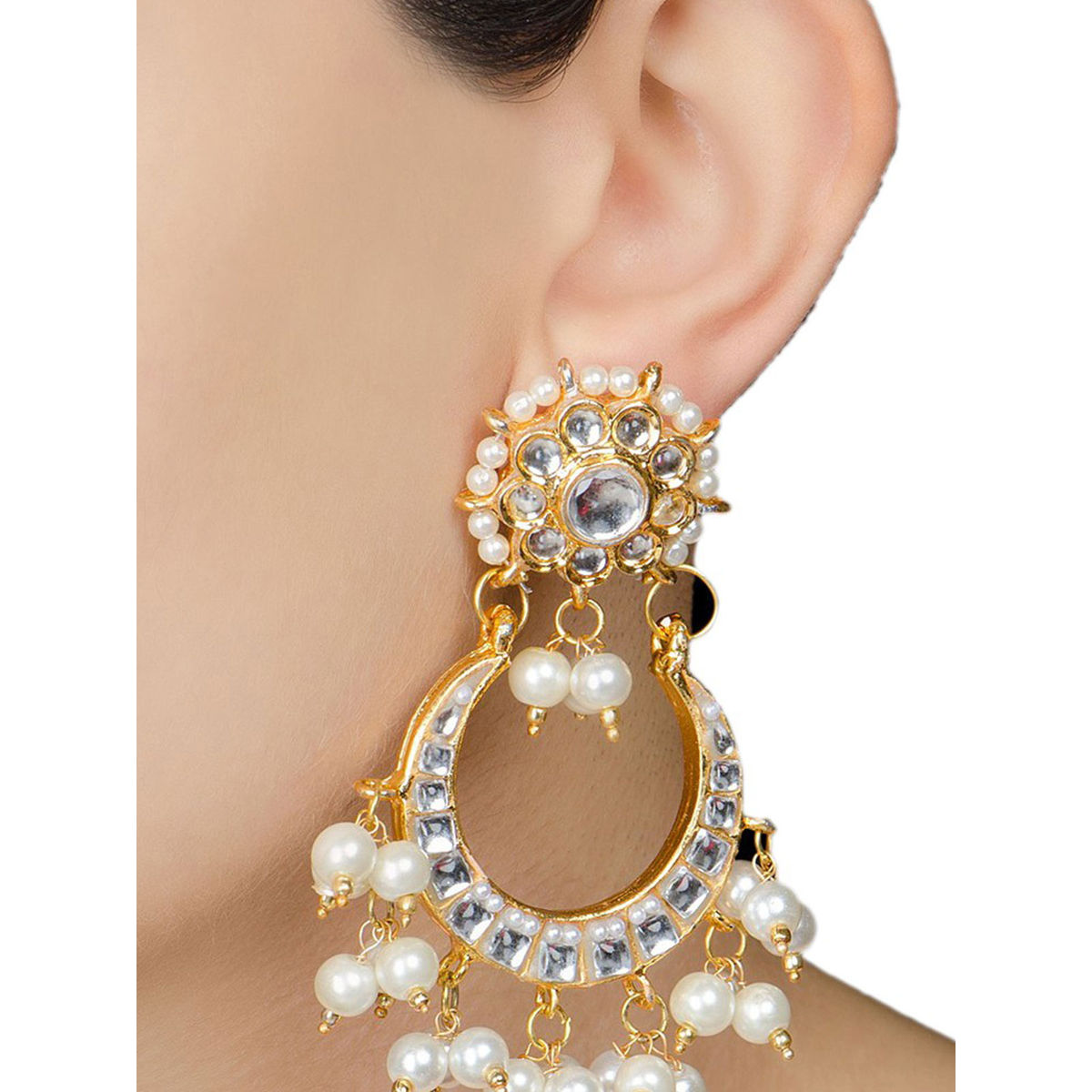 Kundan and Pearl Bridal Party Earring