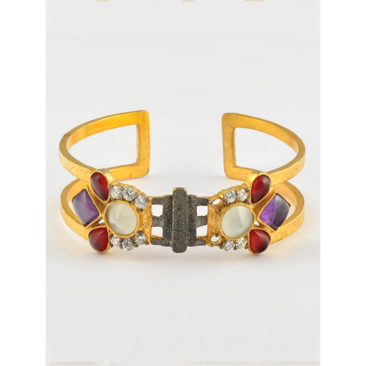 Alchemilla semi precious metal bracelet