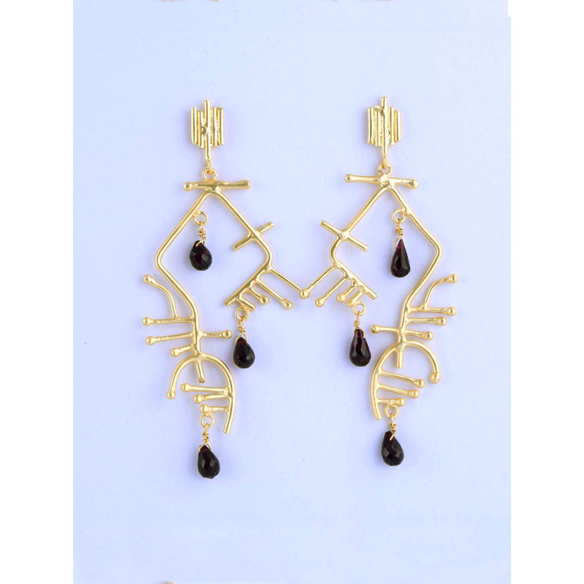 Helios semi precious metal earrings