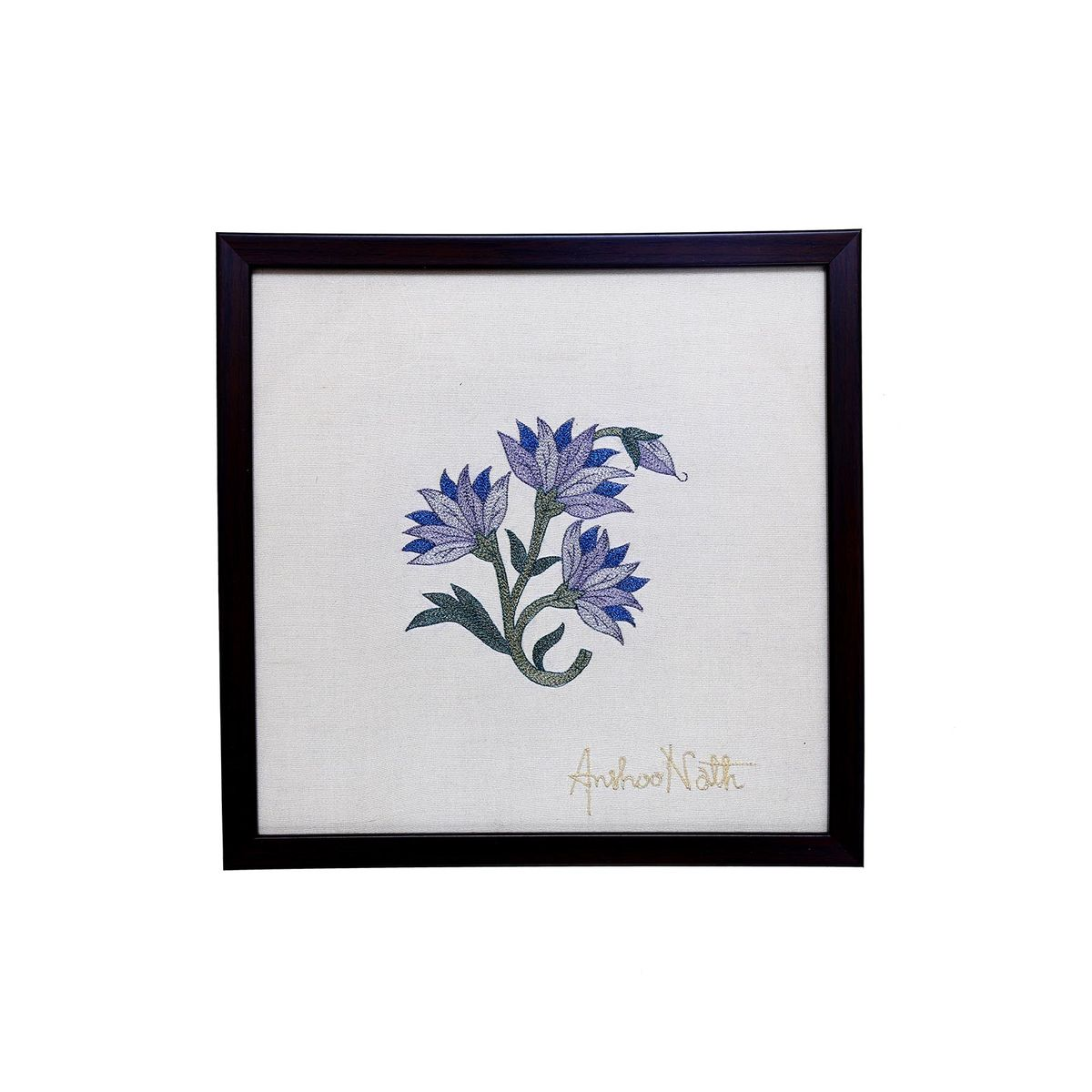 Blue Marigold Wallhanging