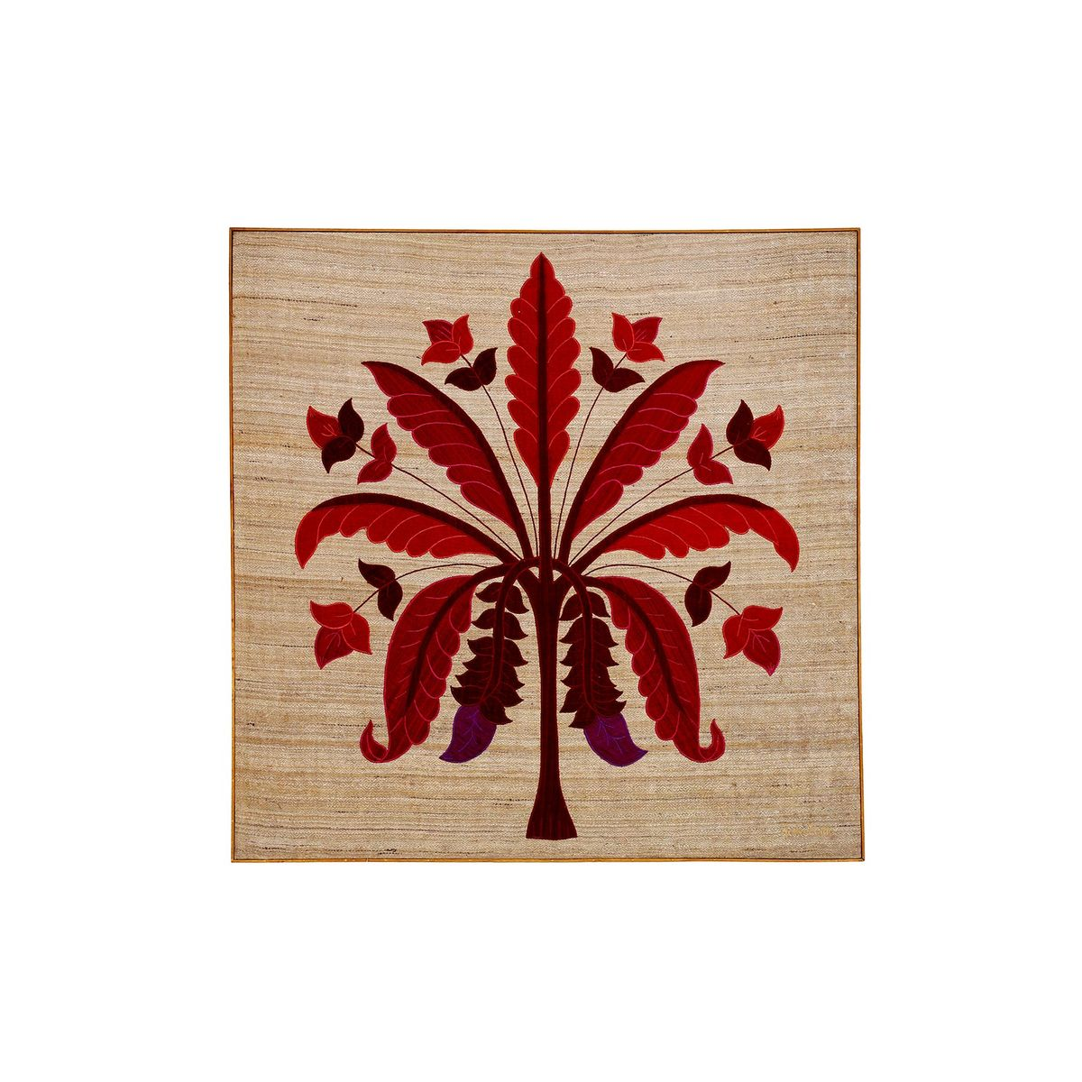 Red Banana Tree Wallhanging