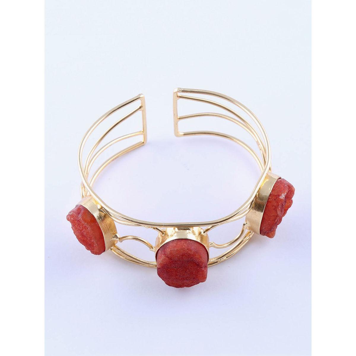 Frane semi precious metal bracelet