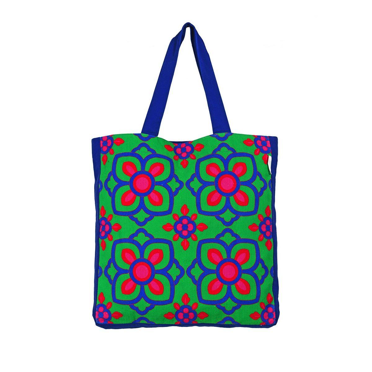 Beautiful Blue Pink Flower Tote Bag