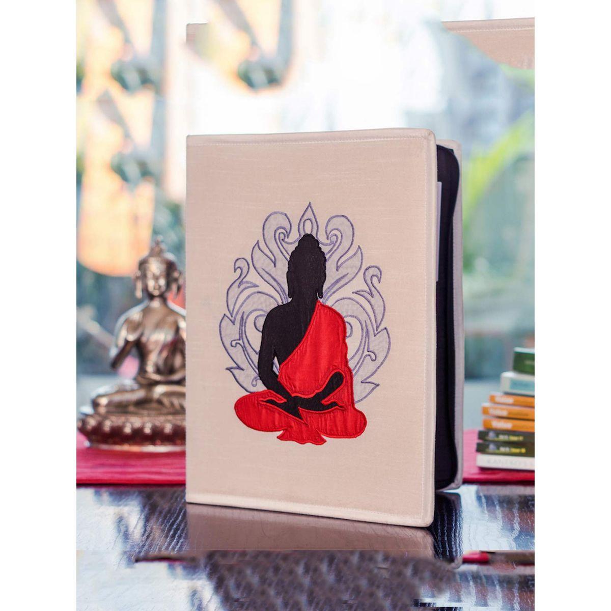 Red Buddha Dupion Silk Folder