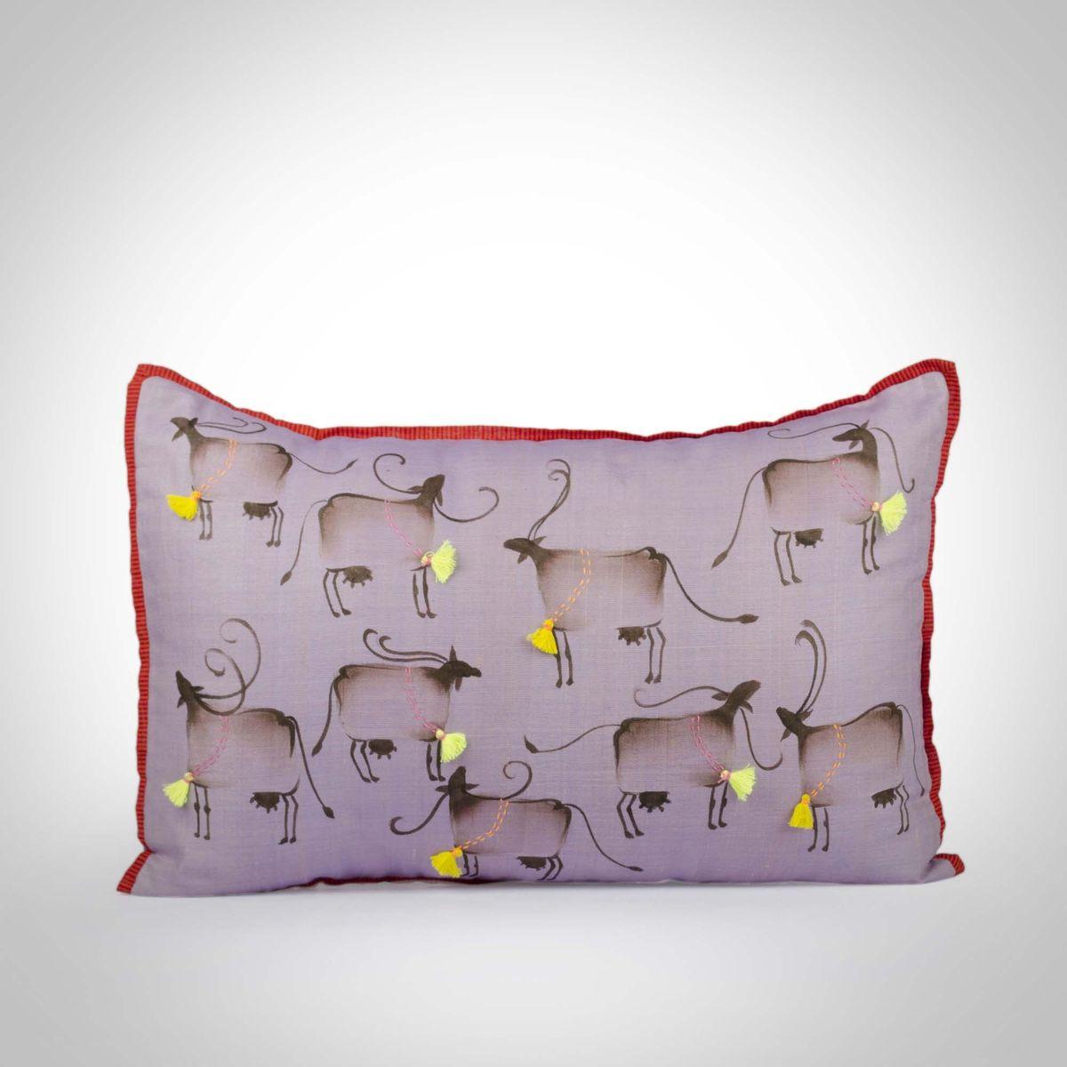 Cotton Silk Cushion Cover - 12x18Inch