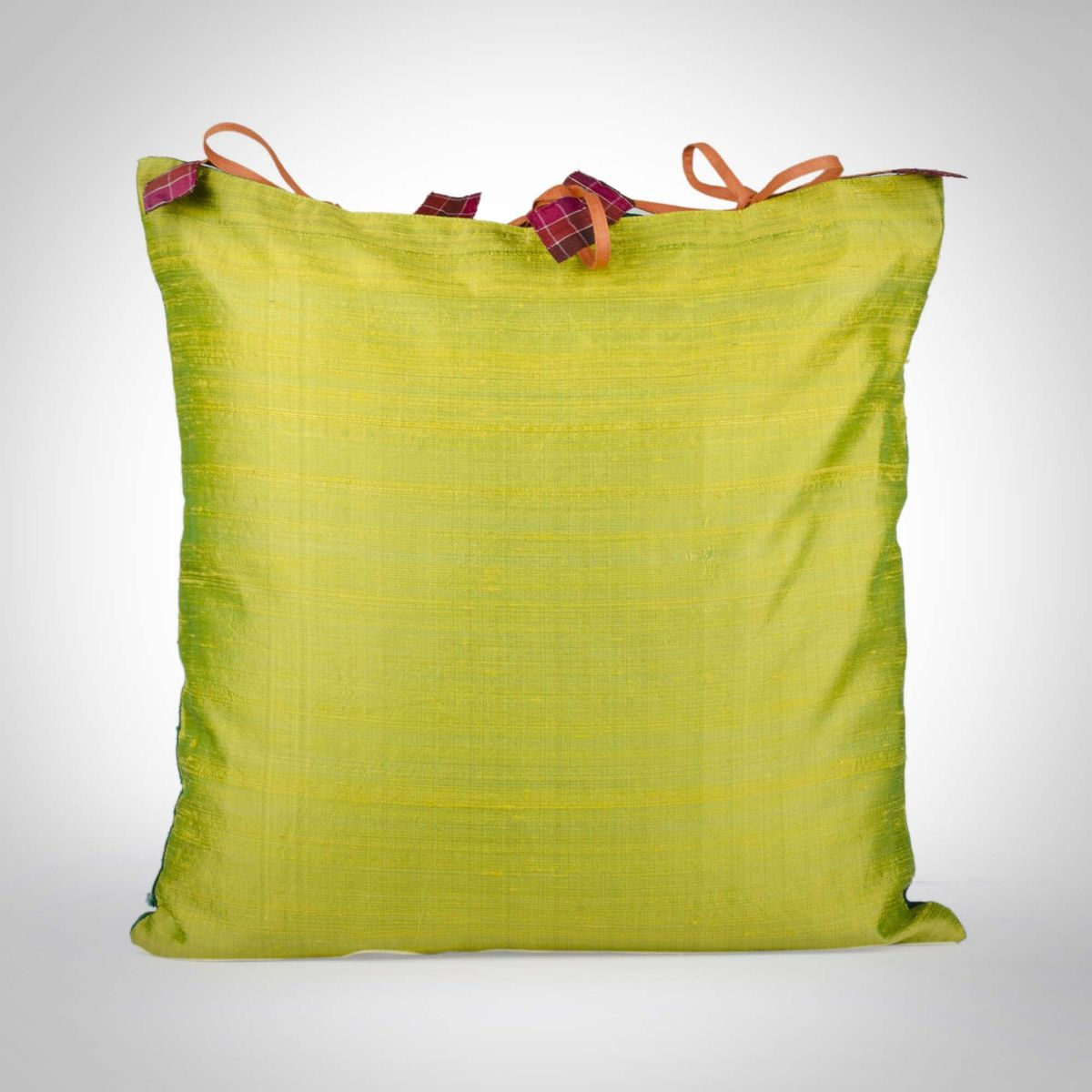 Dual colored Silk Cushion Cover - 16x16Inch