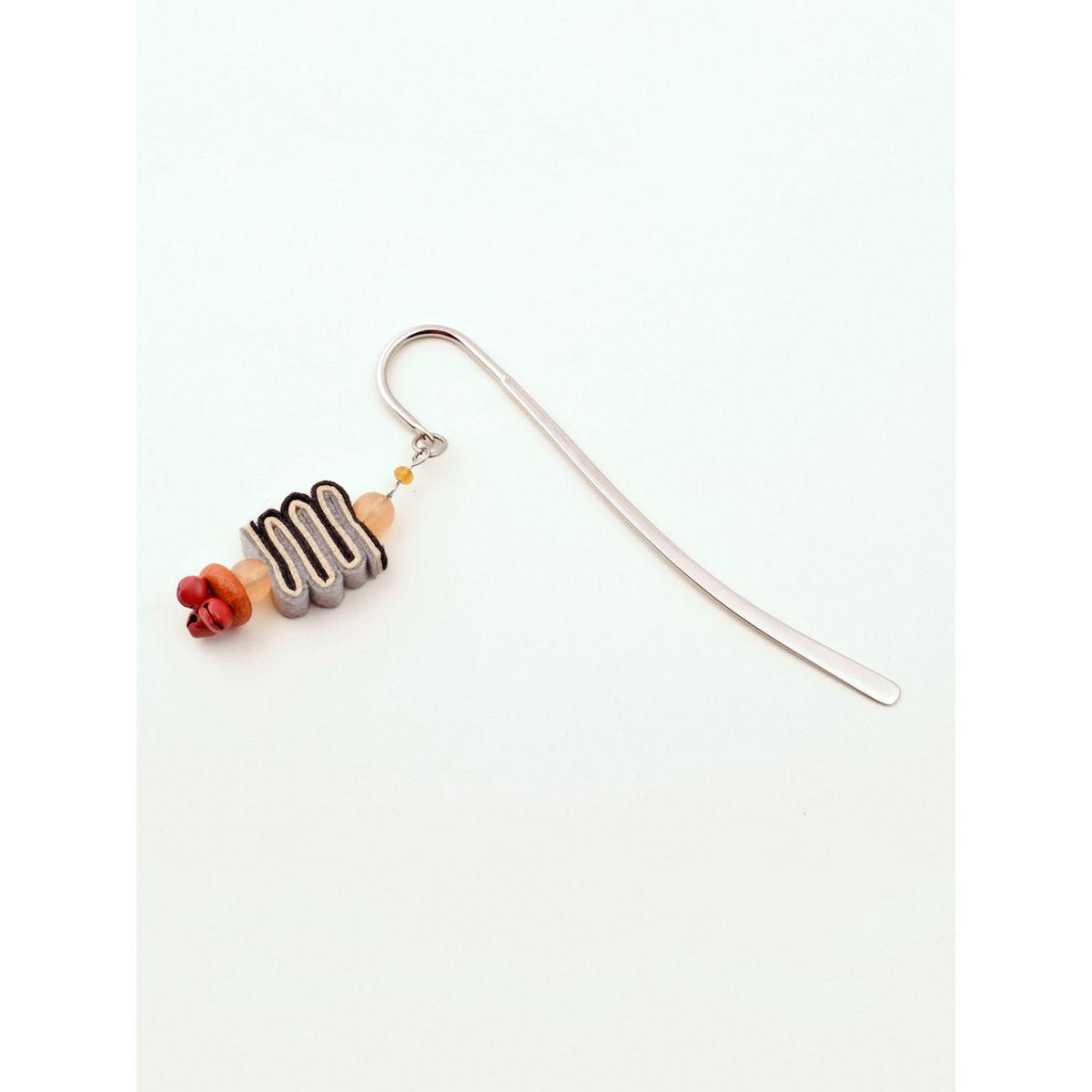 Bookworm Bookmark - Orange