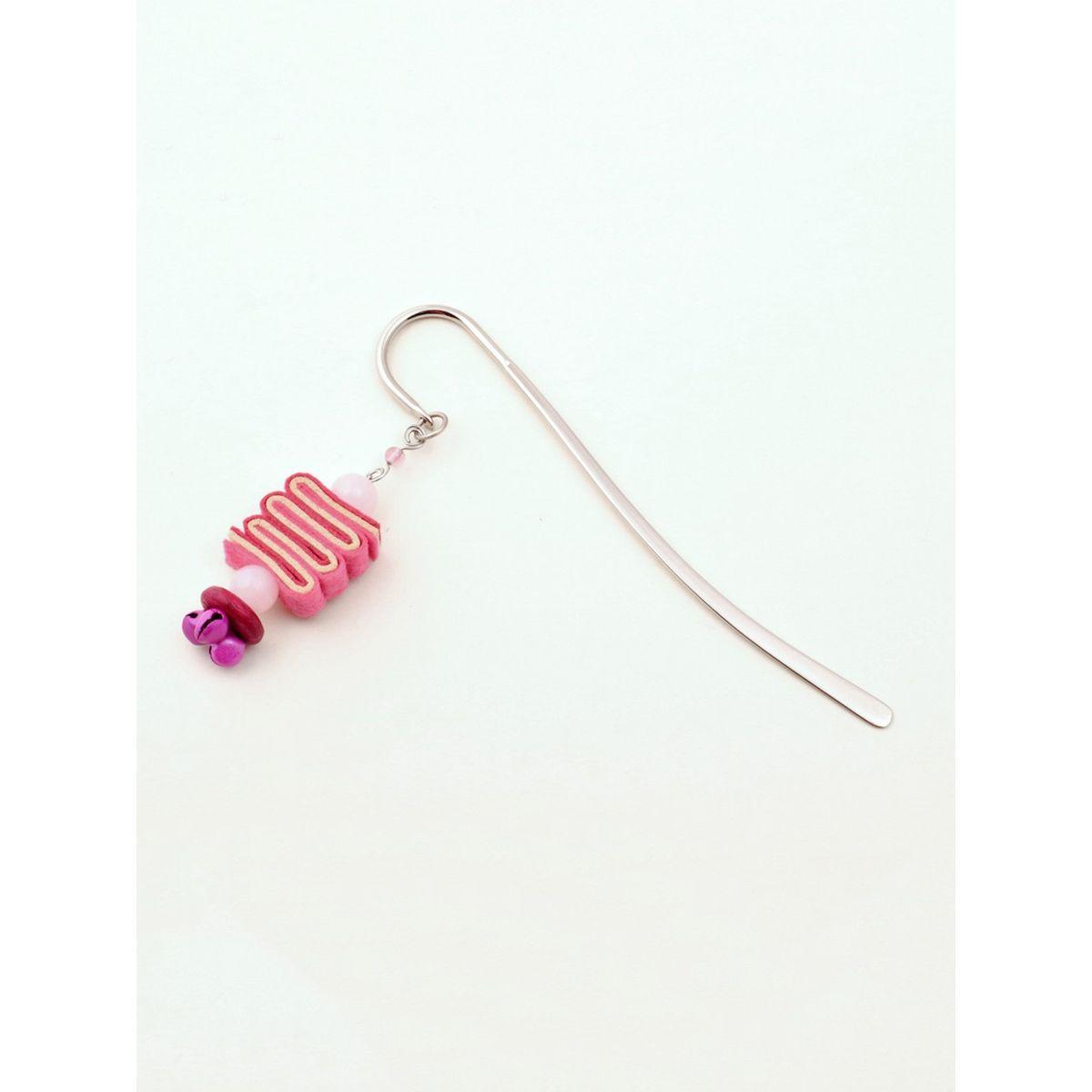 Bookworm Bookmark - Pink