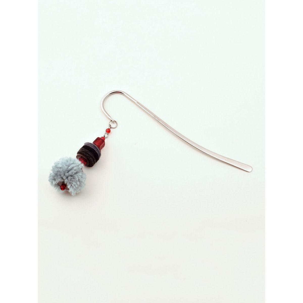 Elf- in-a Hat Bookmark - Grey