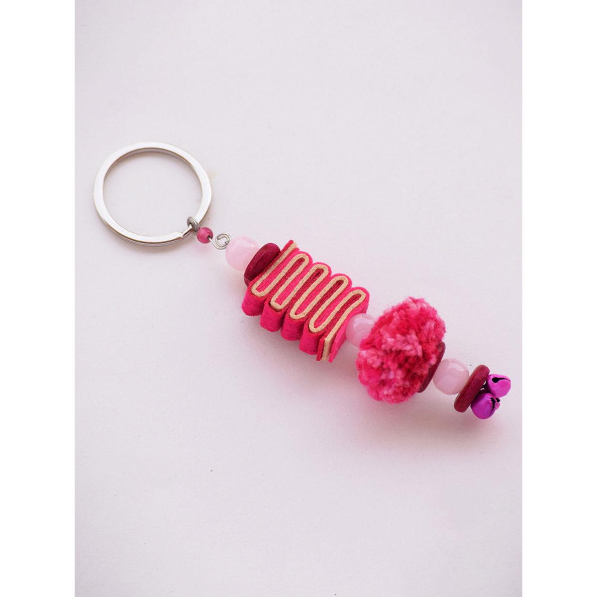 Caterpillar Keychain - Pink