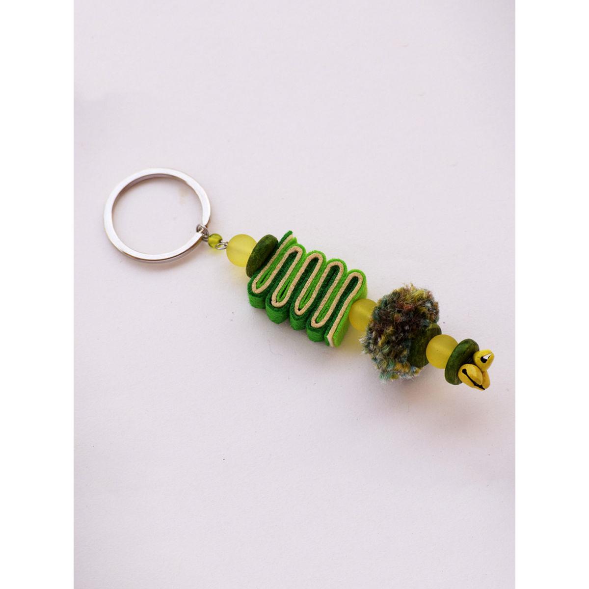Caterpillar Keychain - Green