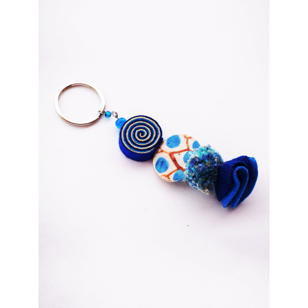 Psychedelic Doll Keychain - Blue