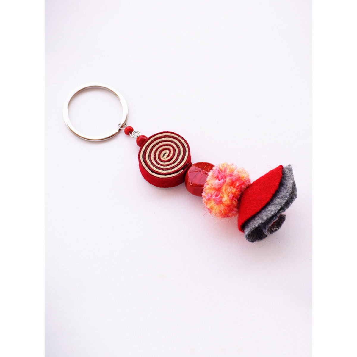 Psychedelic Doll Keychain - Red