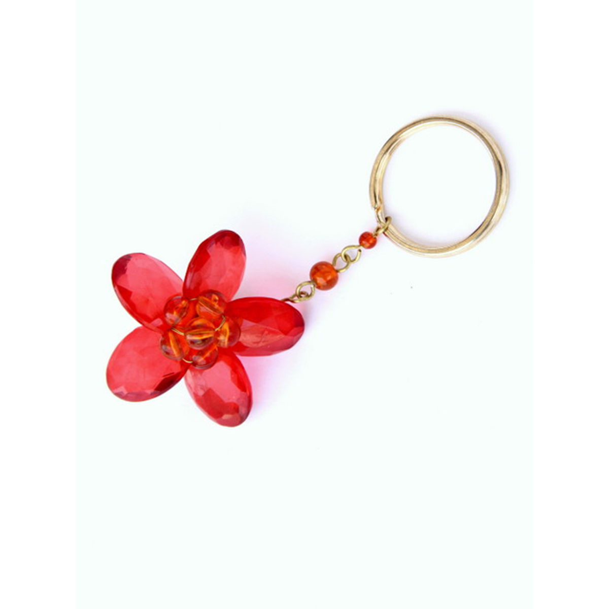 Dangling Keychain-Bountiful Flower  Red
