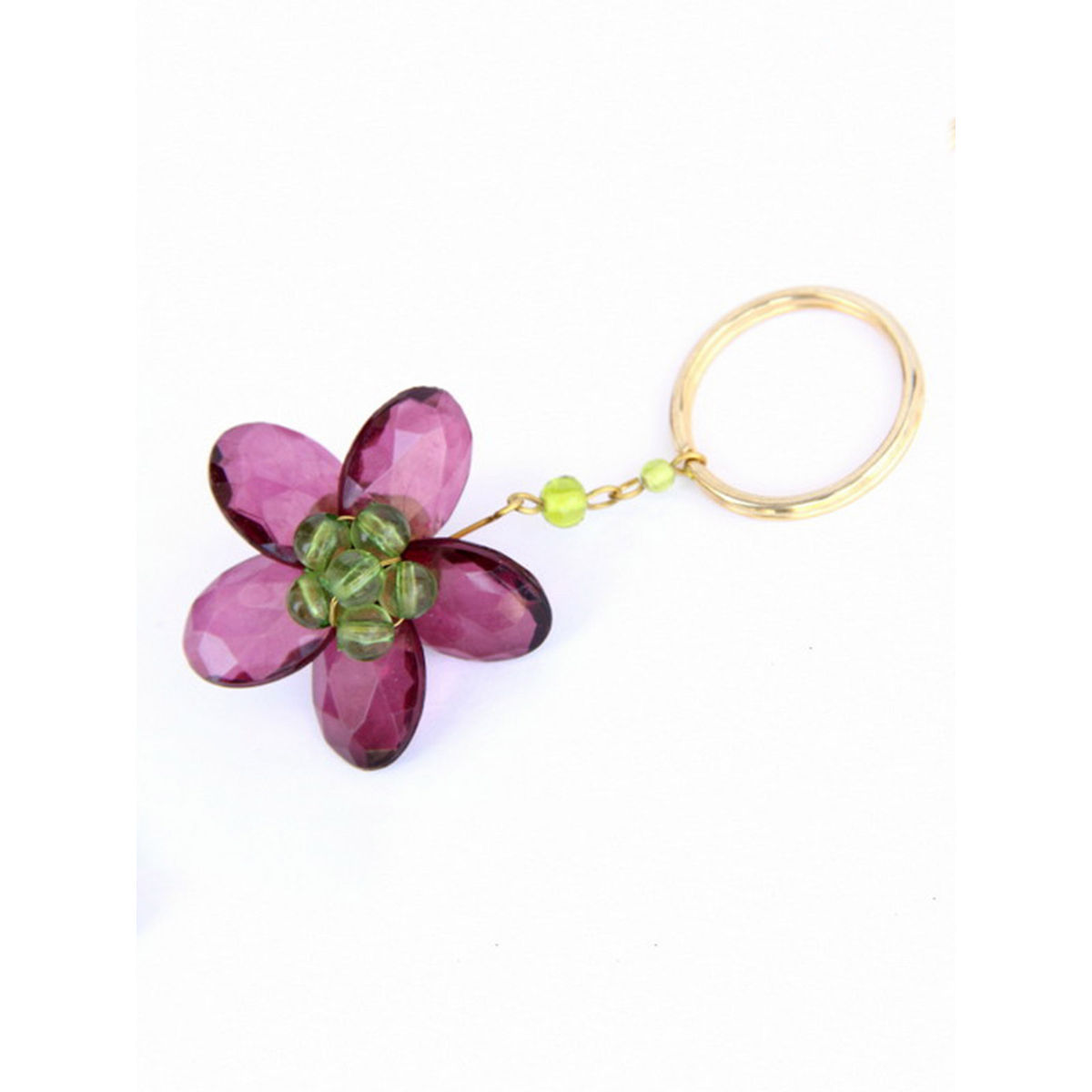 Dangling Keychain-Bountiful Flower  Wine