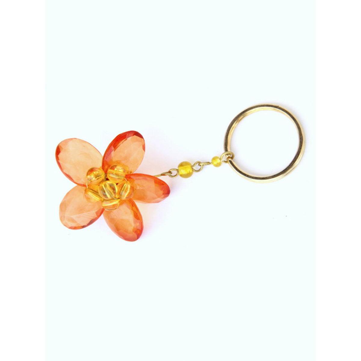 Dangling Keychain-Bountiful Flower  Orange