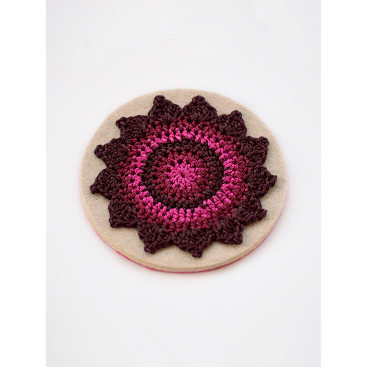 Pinwheel Coaster Burgundy