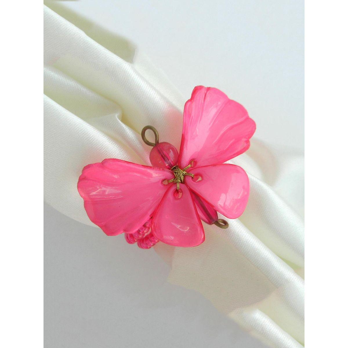 Dainty Butterfly Napkin Ring Fushia