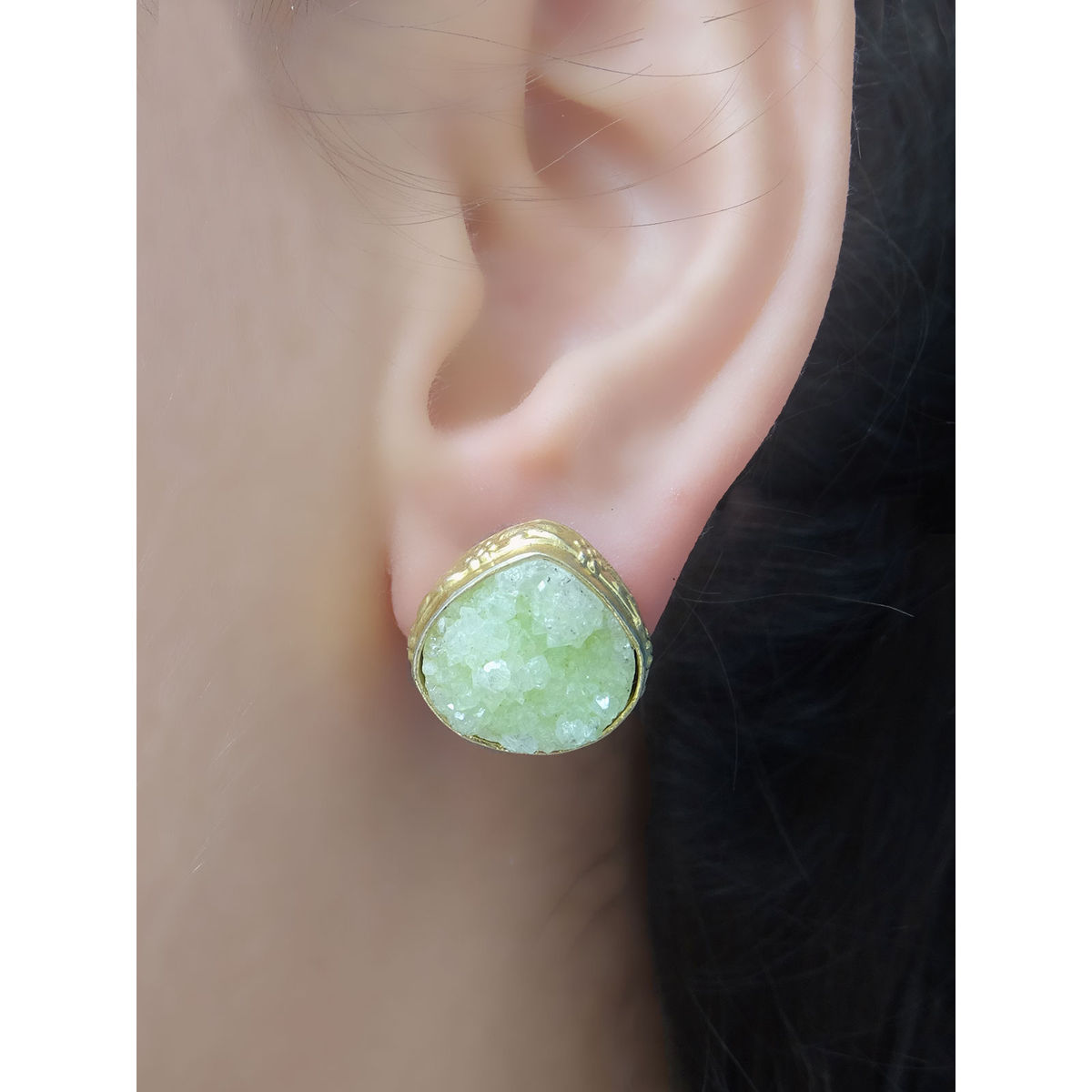 Light Green Stone Earing