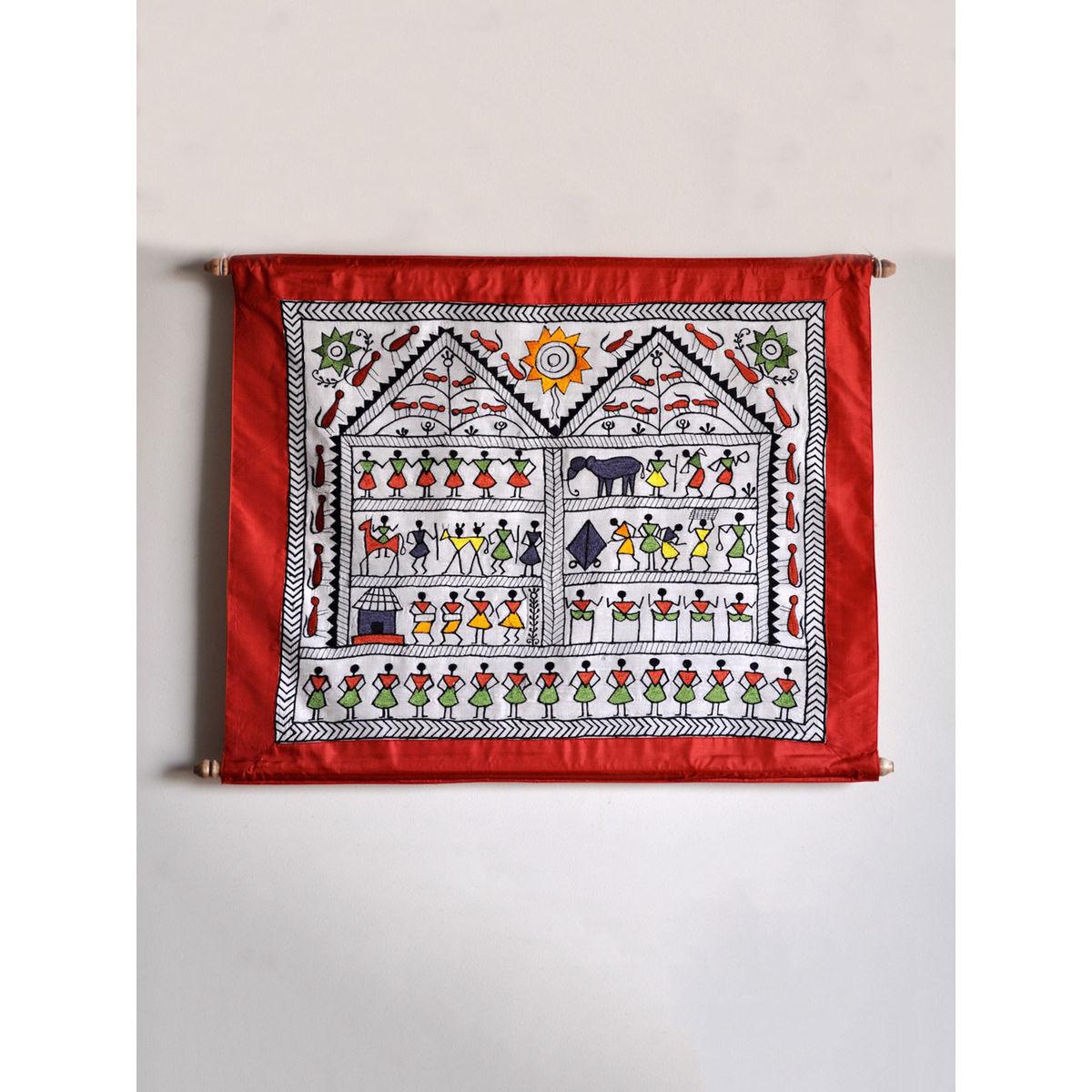 Warli Wall Hanging Scroll
