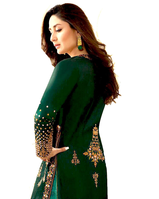 Kareena Kapoor Aqua Blue N Green Anarkali Suit - Saree Express  |Kareena In Green Anarkali Dress