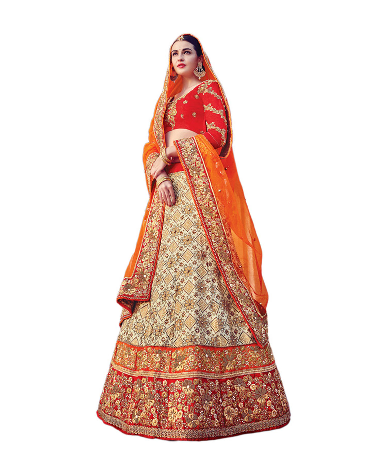 837f8857ae ... Beige Party wear Art Silk Embroidered Lehenga · Zoom · Red ...