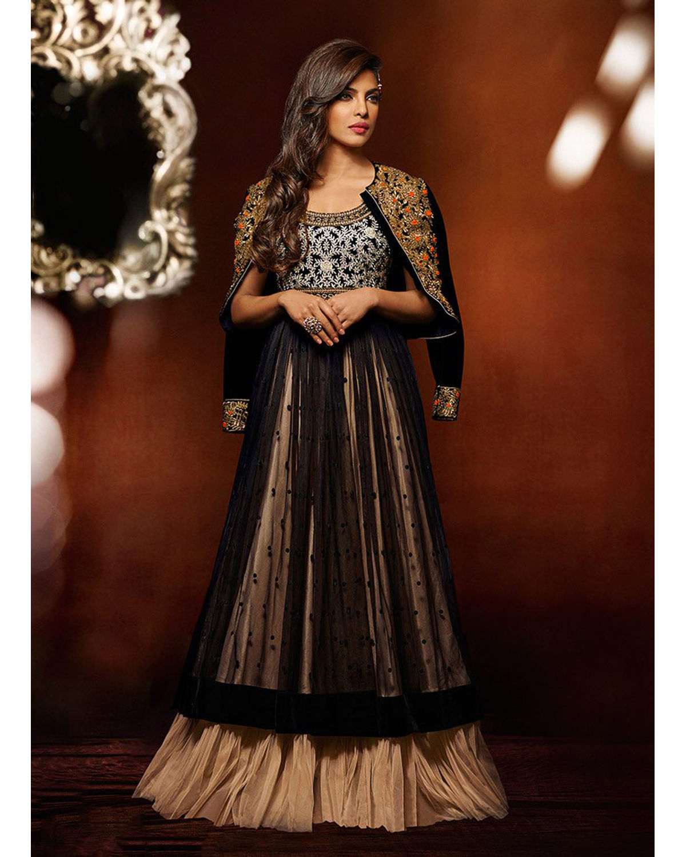 priyanka chopra long party gown or anarkali dress for