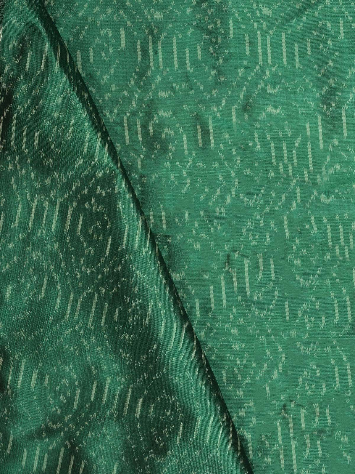 Green Ikat  Silk Fabric