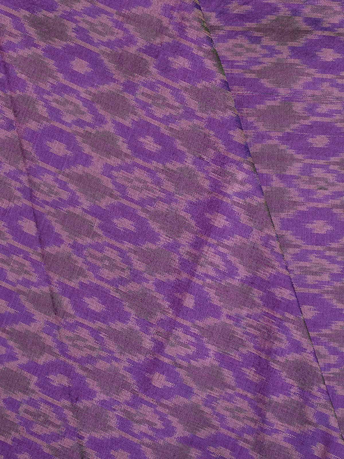 Purple Ikat  Silk Fabric