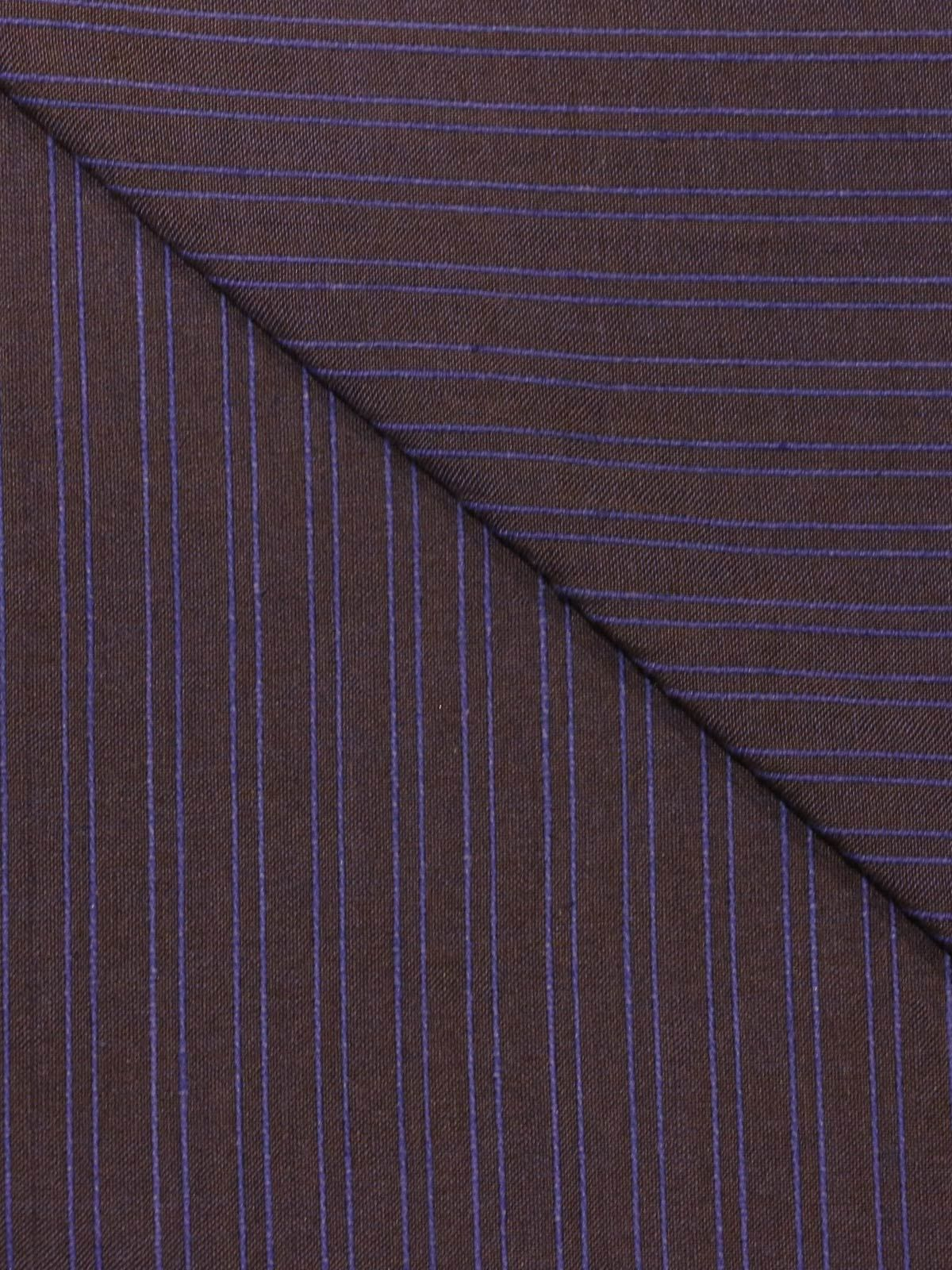 Purple color mangalgiri stripes handloom cotton fabric