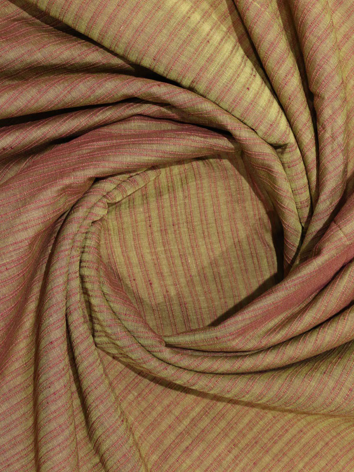Light brown color mangalgiri stripes handloom cotton fabric