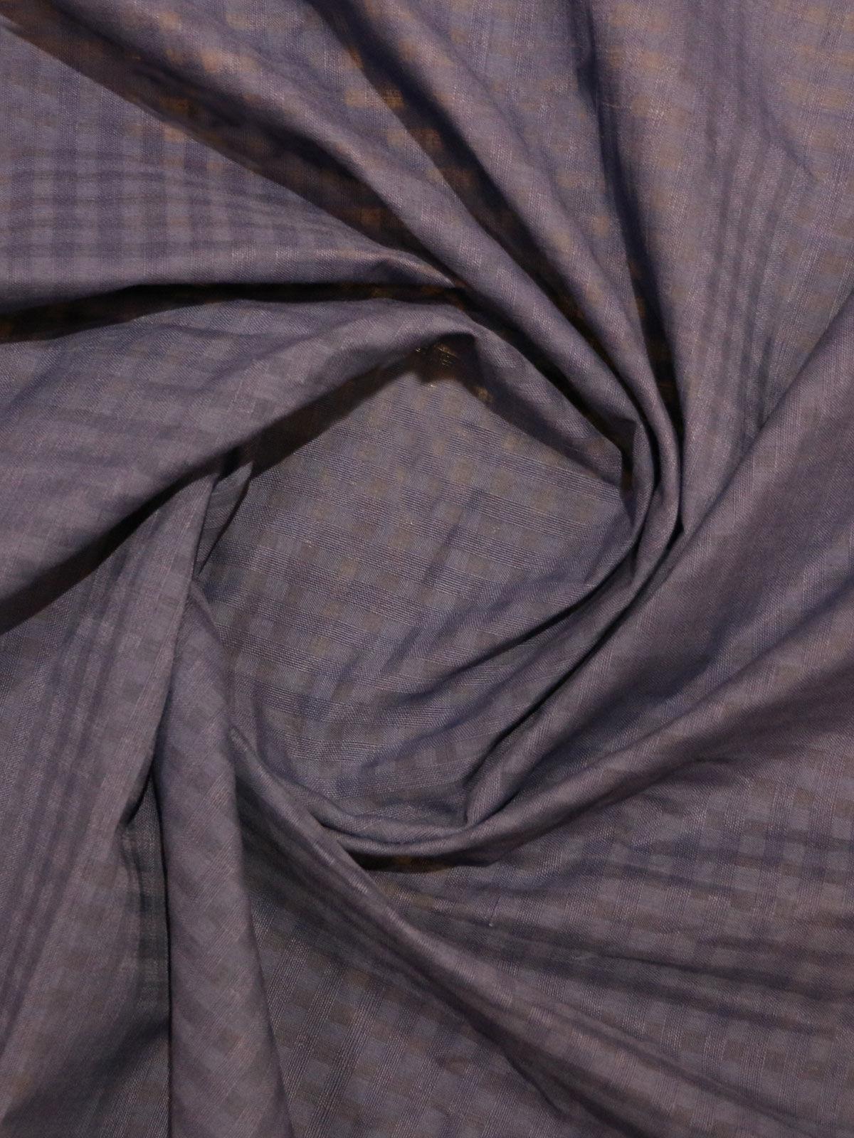 purple colour Mangalgiri cotton fabric