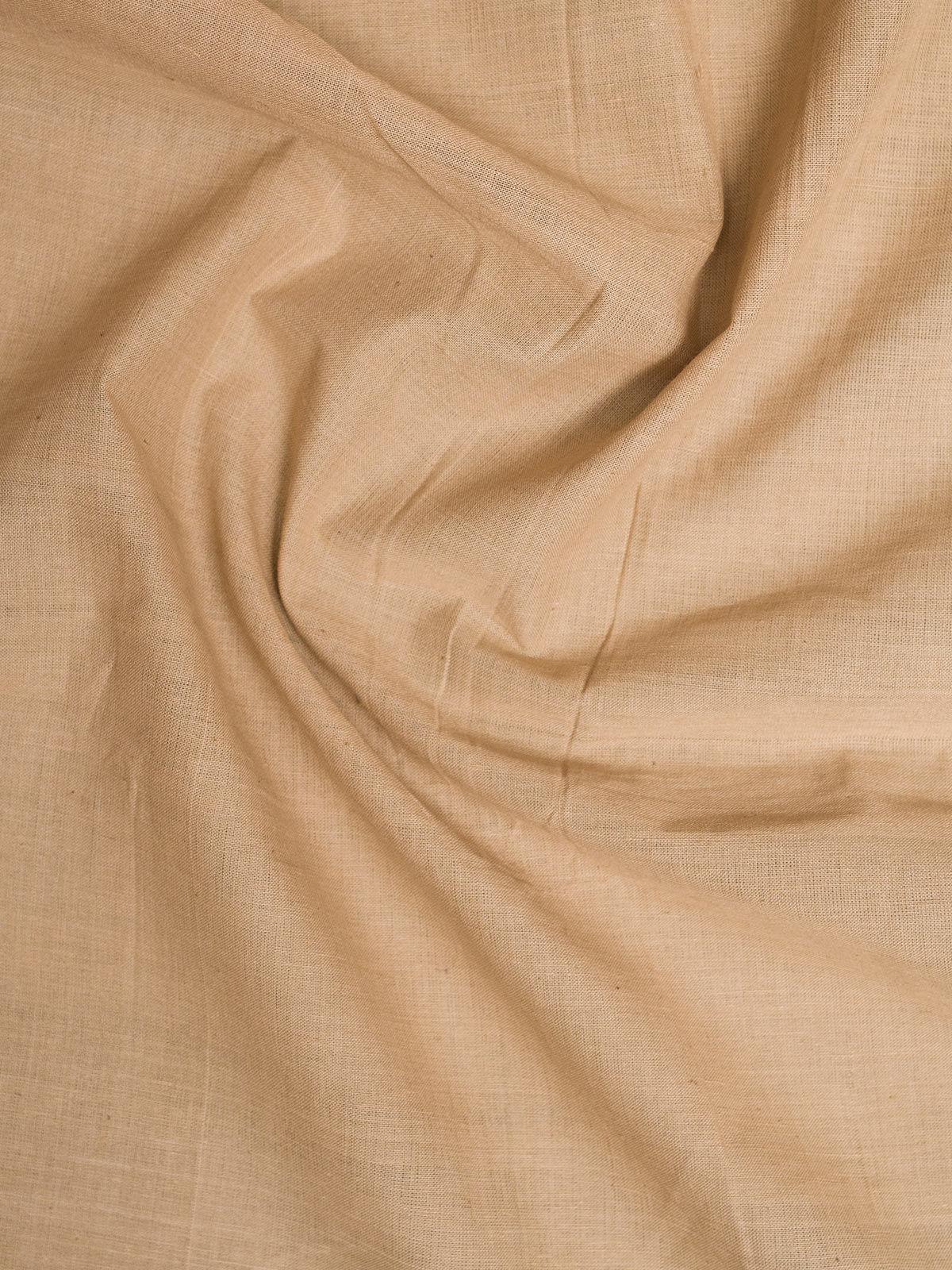 Beige Mangalgiri Cotton Fabric