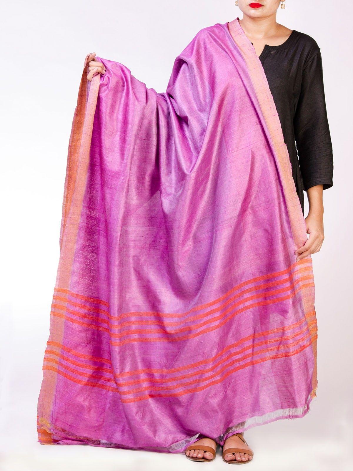 Pink Tussar Silk  Dupatta